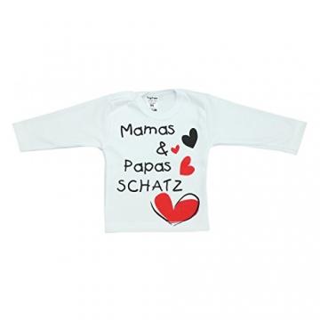 Baby Langarmshirt mit Spruch Aufdruck Langarm Shirt Mädchen Fun-Bekleidung Jungen T-Shirt im 3er SET, Farbe: Mädchen, Größe: 74 -
