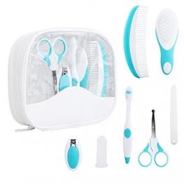 Babypflege Set - IntiPal 7-teiliges Set für Baby Alltag Pflege mit Etui (7-teiliges Set) -