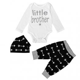 Bekleidung Longra Neugeborenen Säugling Baby Jungen Tops Strampler + Leggings Hose Hut Outfits Kleiderset Babykleidung (0 -24 Monate) (70CM 6Monate) -