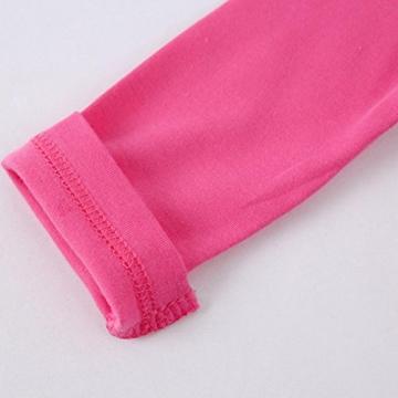 Bekleidung Longra Neugeborenes Kleinkind jungen Mädchen drucken lange Ärmel Strampler Overall Kleidung(0 -24 Monate) (70CM 6Monate, Hot Pink) -