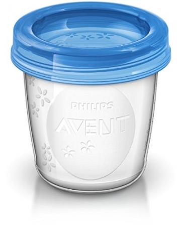 Philips Avent SCF639/05 Aufbewahrungssystem für Babynahrung, 5x 240 ml, inklusive Deckel -