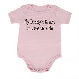 puseky Baby Mädchen Daddy's Spieler Kleidung Body 0-6 Monate -